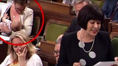 Bijval voor Canadese minister (30) die borstvoeding geeft in parlement