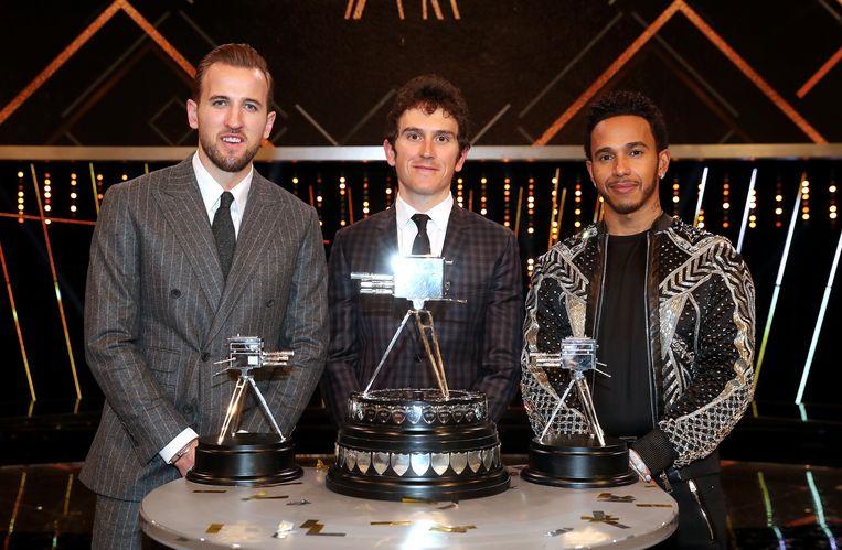 De top drie: Kane, Thomas en Hamilton.