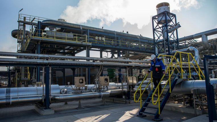 Chemiefabriek van Akzo Nobel in Delfzijl. Het concern overweegt de chemietak af te stoten. Beeld anp