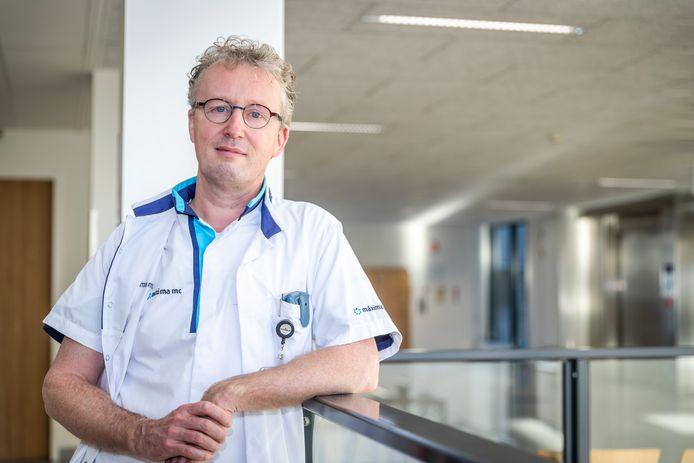 Internist-intensivist Wouter Dijkman in het Máxima Medisch Centrum in Veldhoven.