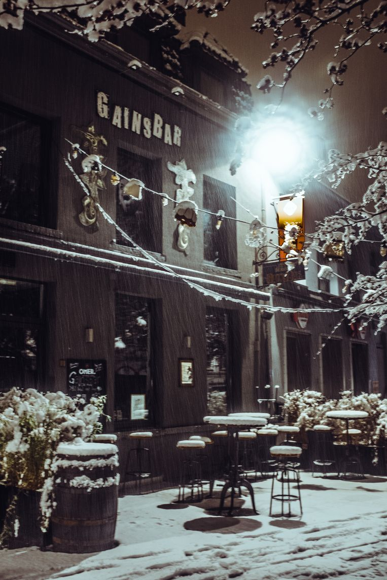 café Gainsbar, op de Vlasmarkt