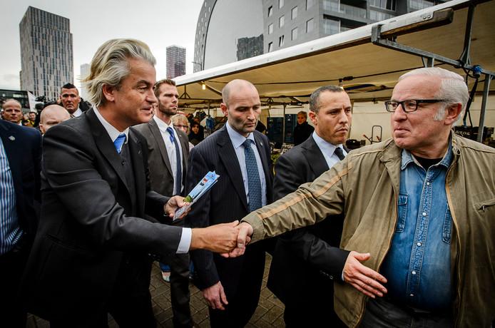 De strenge beveiliging rond PVV-leider Geert Wilders.