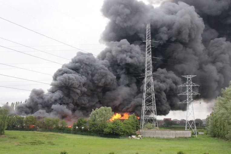 Zware industriebrand