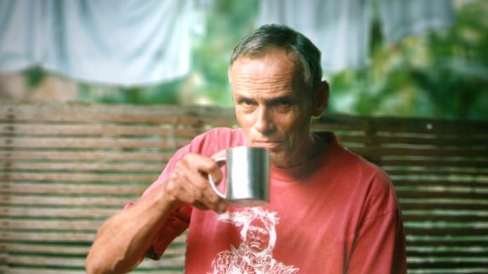 Willem Geertman aan de koffie.