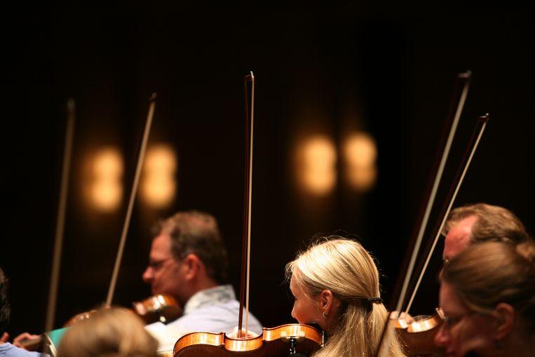Repetitie van Het Gelders Orkest. Beeld ANP