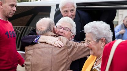 Zo ziet instant geluk eruit: vrienden van 'De wereld rond met 80-jarigen' zien elkaar voor de eerste keer terug