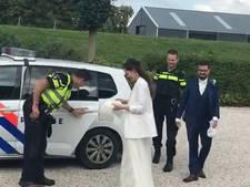 Politie redt huwelijk bruidspaar na pech op A58