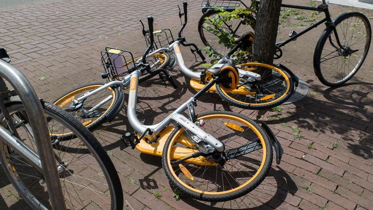 Het is toch nog niet voorbij voor de deelfiets in Amsterdam Beeld Charlotte Odijk