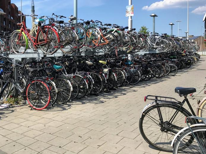 Het deel van de fietsenstalling op het Westplein dat op 22 augustus wordt ontmanteld.