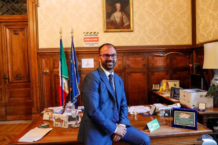 De Italiaanse onderwijsminister Lorenzo Fioramonti (42), voormalig professor economie.