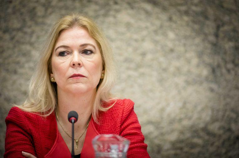 2017-02-08 10:18:26 DEN HAAG - Madeleine van Toorenburg (CDA) tijdens het debat over het gevangeniswezen. ANP BART MAAT