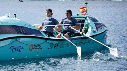 Woelig water en zeeziekte, maar Gentse broers liggen tweede in roeitocht over Atlantische Oceaan