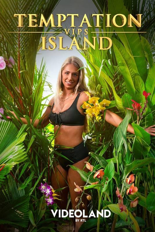 Brenda op het poster van Temptation Island