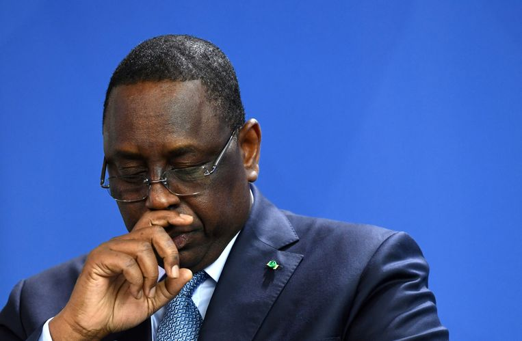 De Senegalese president Macky Sall.