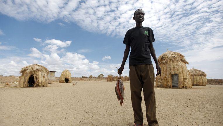 Een lokale handelaar in Ethiopië. Oxfarm Novib probeert hier de lokale economie te stimuleren, door mensen de mogelijkheid te bieden om een eigen handeltje op te zetten. Beeld epa