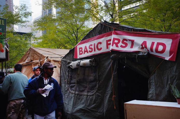 Occupy-kamp in het Zuccotti Park, New York. © AP