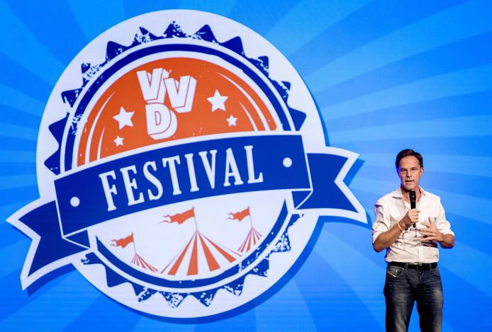 Premier Mark Rutte tijdens de het VVD-festival.