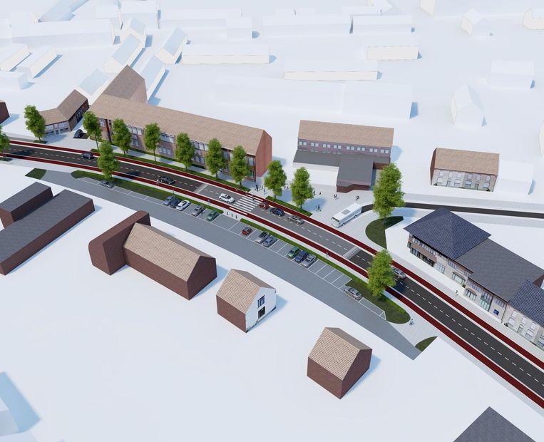 Aan basisschool Mandelbloesem staan bredere fiets- en voetpaden gepland, de parkeerzone wordt heraangelegd en de middengeleiders verdwijnen.