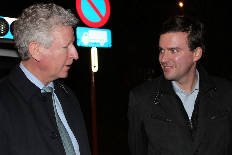 Minister Pieter De Crem (CD&V) en de burgemeester.