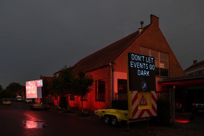 Bedrijf van Wim van den Dungen (verhuur LED-schermen) in Raamsdonksveer.