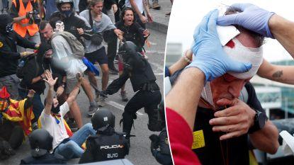 Pure chaos door massaal protest van separatisten in Catalonië: zeker 53 gewonden