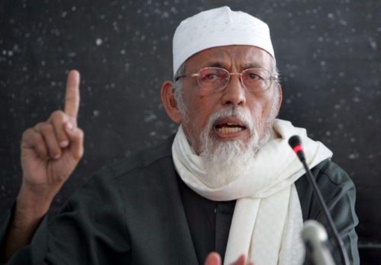 De radicale moslimprediker Abu Bakar Bashir. ANP Beeld