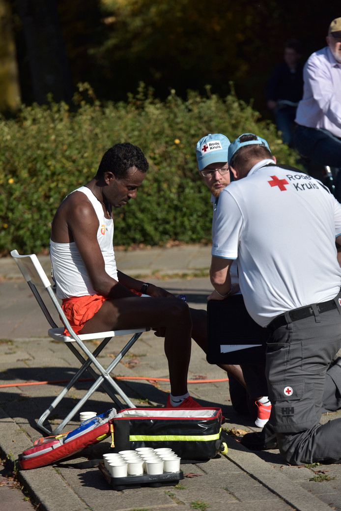 Een uitvaller tijdens de Marathon: nummer 3 Bedari.