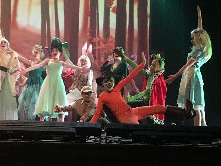 De cast van 'Shreck, the musical' kreeg keer op keer een oorverdovend applaus van het publiek.