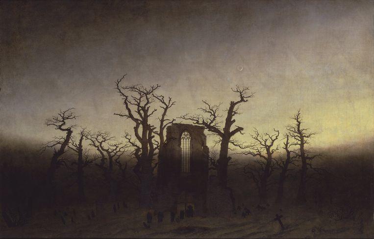 Abtei im Eichwald (1809) van Caspar David Friedrich. Beeld Alte Nationalgalerie