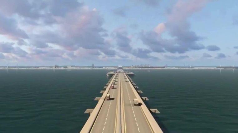 Een bewaakte brug moet het eiland verbinden met het vasteland.