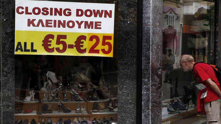 Een schoenenzaak in Nicosia. Beeld ap
