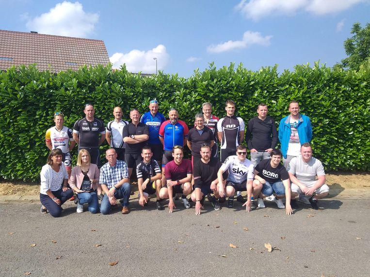Ook van fietsen hield Jonas. De collega's van Toyota Diest organiseerden dan ook passend een herdenkingsfietstocht.