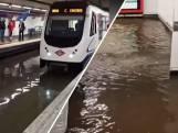 Hevige regenval zet metrostations Madrid blank