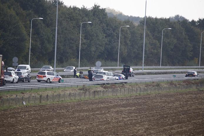 Het ongeval op de A73.