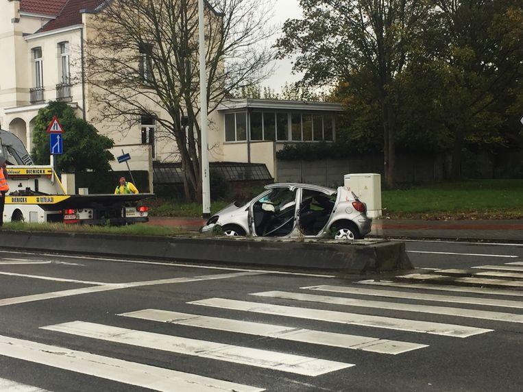 Het ongeval gebeurde op het kruispunt van de Haachtsesteenweg en de Tervuursesteenweg in Steenokkerzeel.