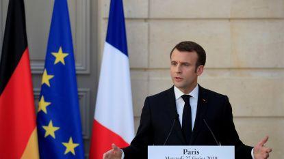 """Macron wendt zich tot Europese burgers met oproep tot """"nieuw begin voor Europa"""""""
