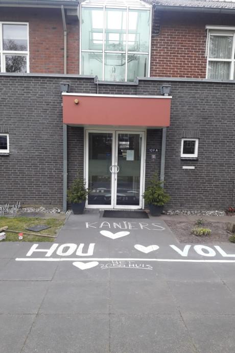 Lief gebaar voor zorgpersoneel in Deurne
