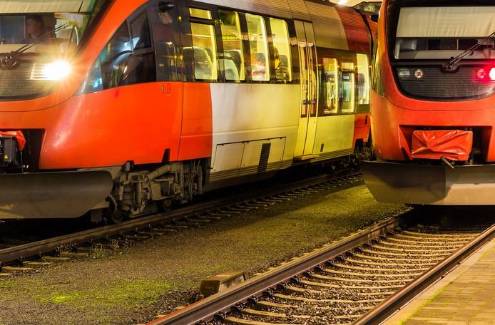 Treinen op een Oostenrijks station.