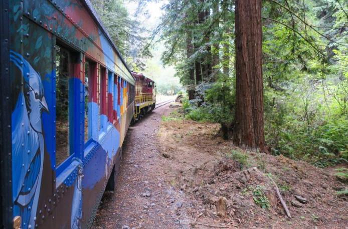 Le Skunk Train de Fort Bragg.