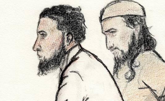 Syriëgangers Wail el A. (links) en Nadeem S.