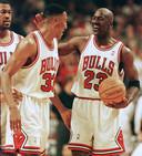 Scottie Pippen en Michael Jordan.