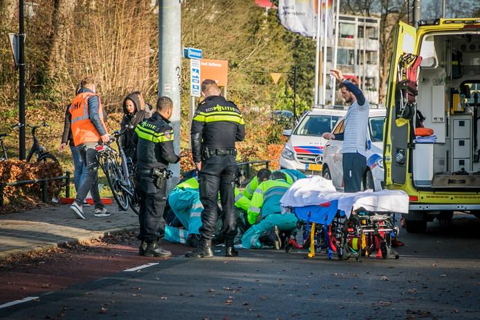 De politie en ambulance ter plaatse