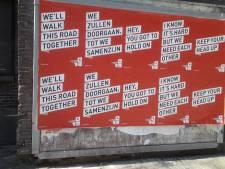 'Keep your head up': 013 plakt posters met opbeurende songteksten