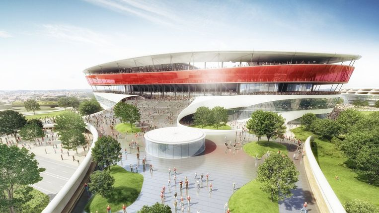 Zo zou het nieuwe Eurostadion eruit moeten zien.
