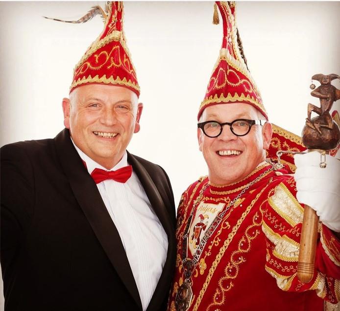 Prins Eric Boschman (rechts) en adjudant Max.