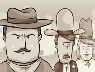 Los jij onze maandagpuzzel op? Hoe overleef je het vuurgevecht tussen deze drie cowboys?