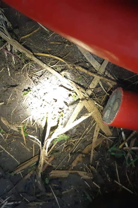 Koperdieven op heterdaad betrapt op bouwterrein in Vuren