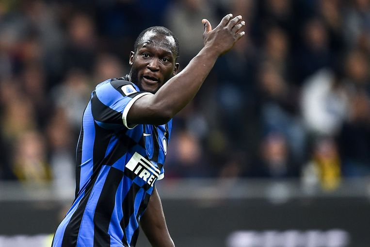 Romelu Lukaku in het shirt van Inter.