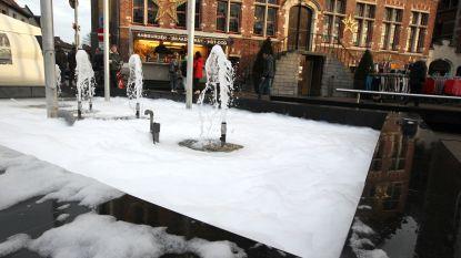 Krijgt Eeklo als enige toch witte Kerst? Sneeuw blijkt schuim in fontein