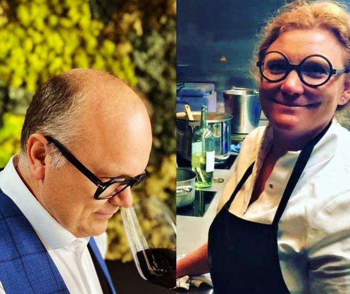 Pascal Vasseur en echtgenote Virginie Gelaude van restaurant Bacon: hij in de zaal, zij in de keuken.